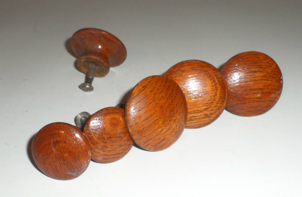 Picture of: Antique Wooden Dresser Knobs