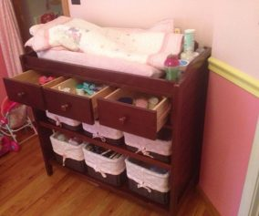 Baby Dresser And Changing Table Combo
