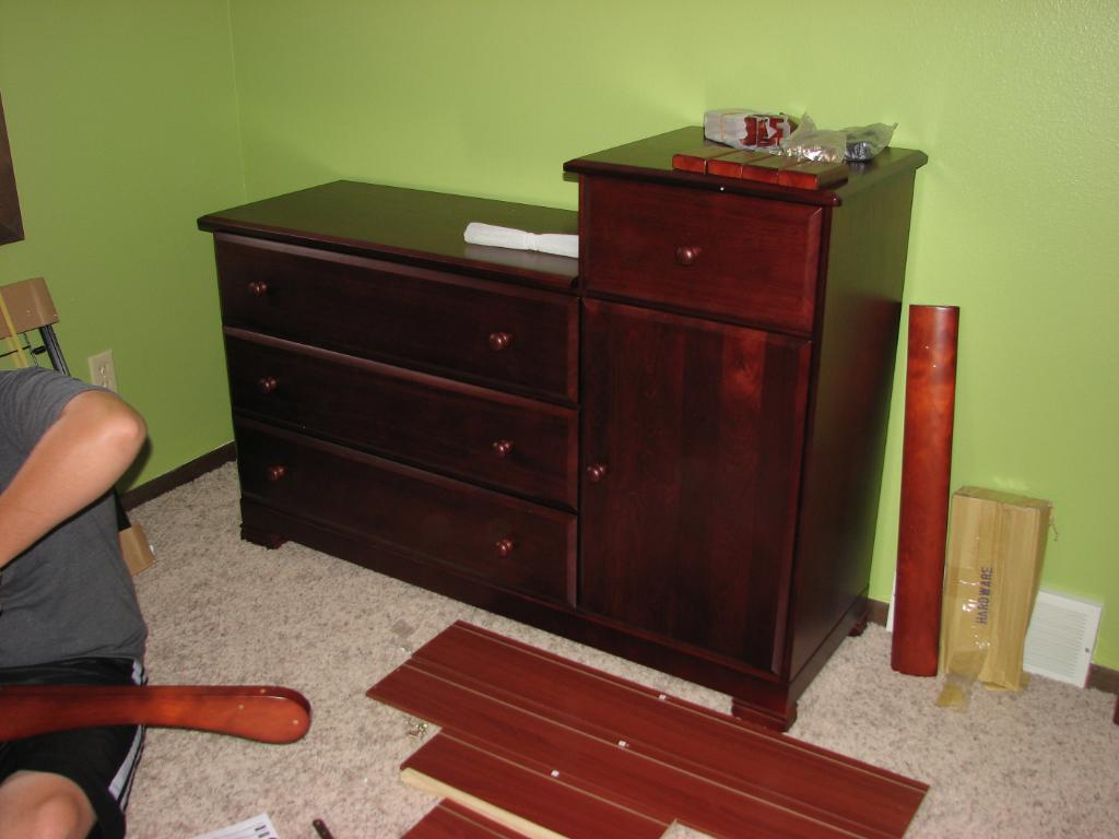 Bedroom Changing Table Dresser Combo