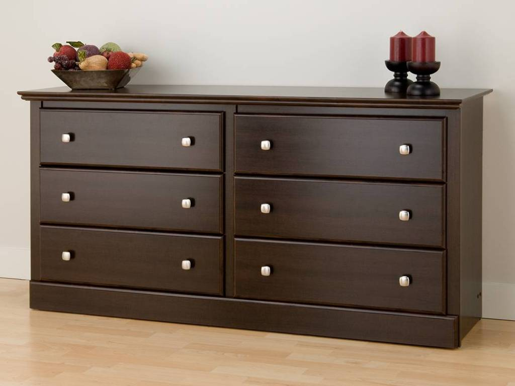 Image of: Black 6 Drawer Dresser Ideas