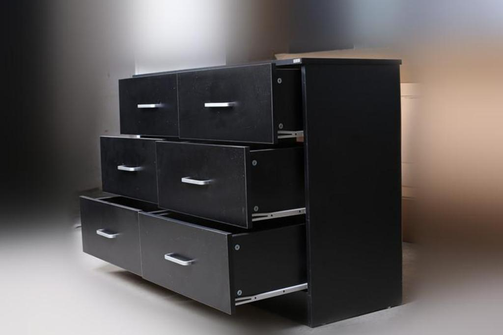 Picture of: Black Dresser Deep Drawers