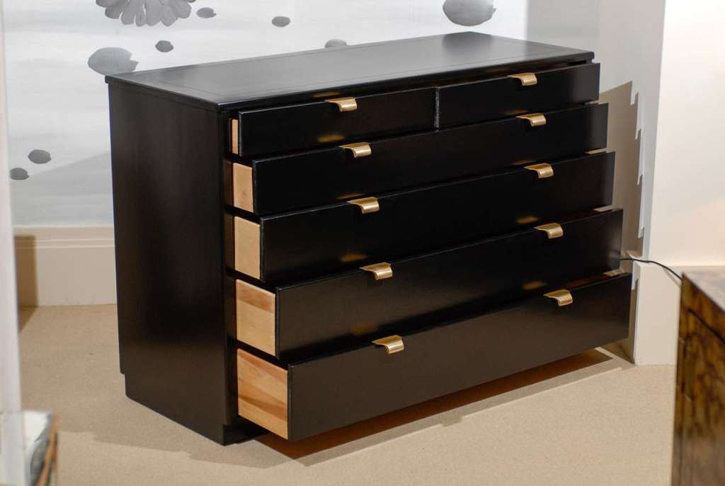 Picture of: Black Lacquer Chest Of Drawers