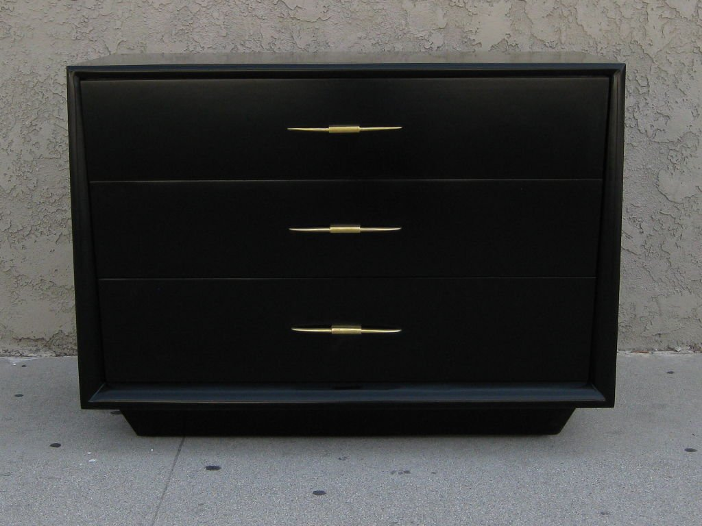 Picture of: Black Lacquer Dresser Of Drawers