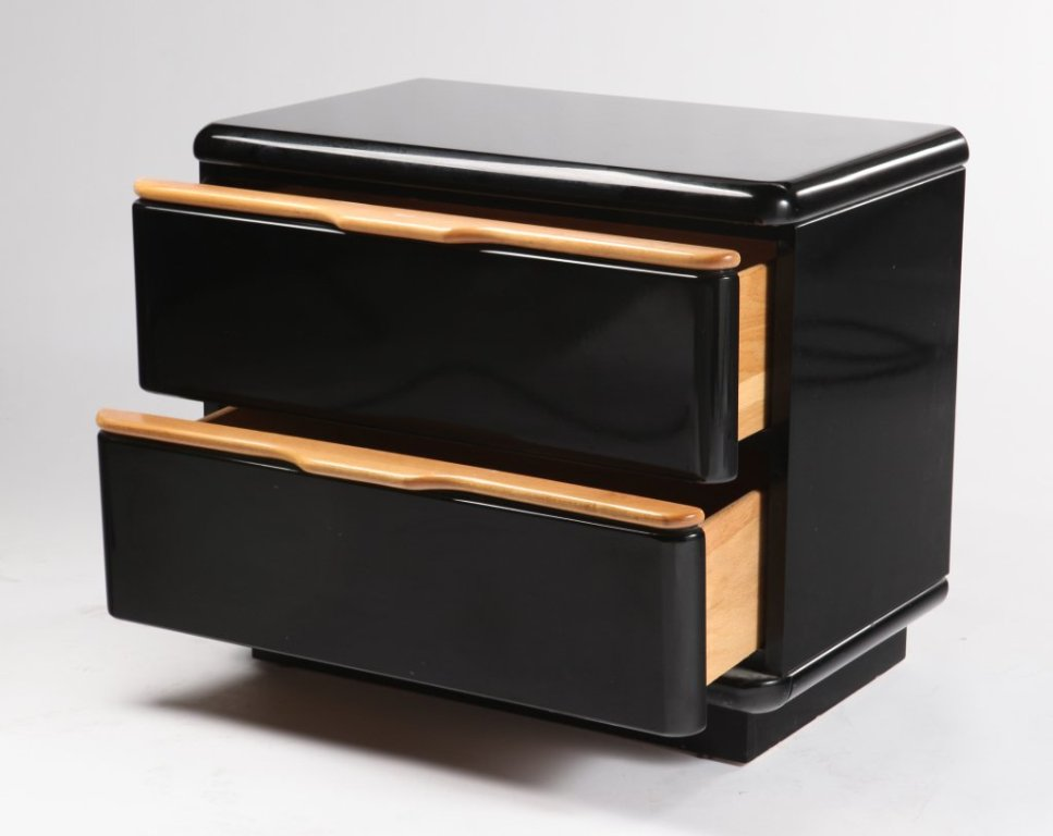 Picture of: Black Lacquer Nightstand