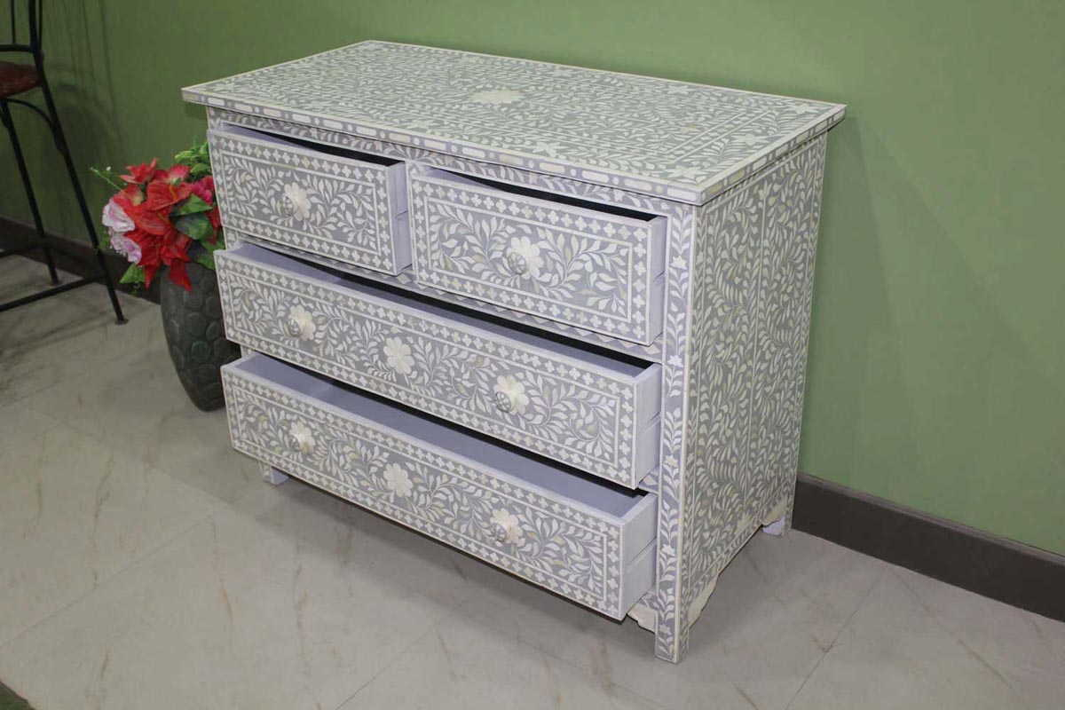 Image of: Bone Inlay Chest Of Drawers