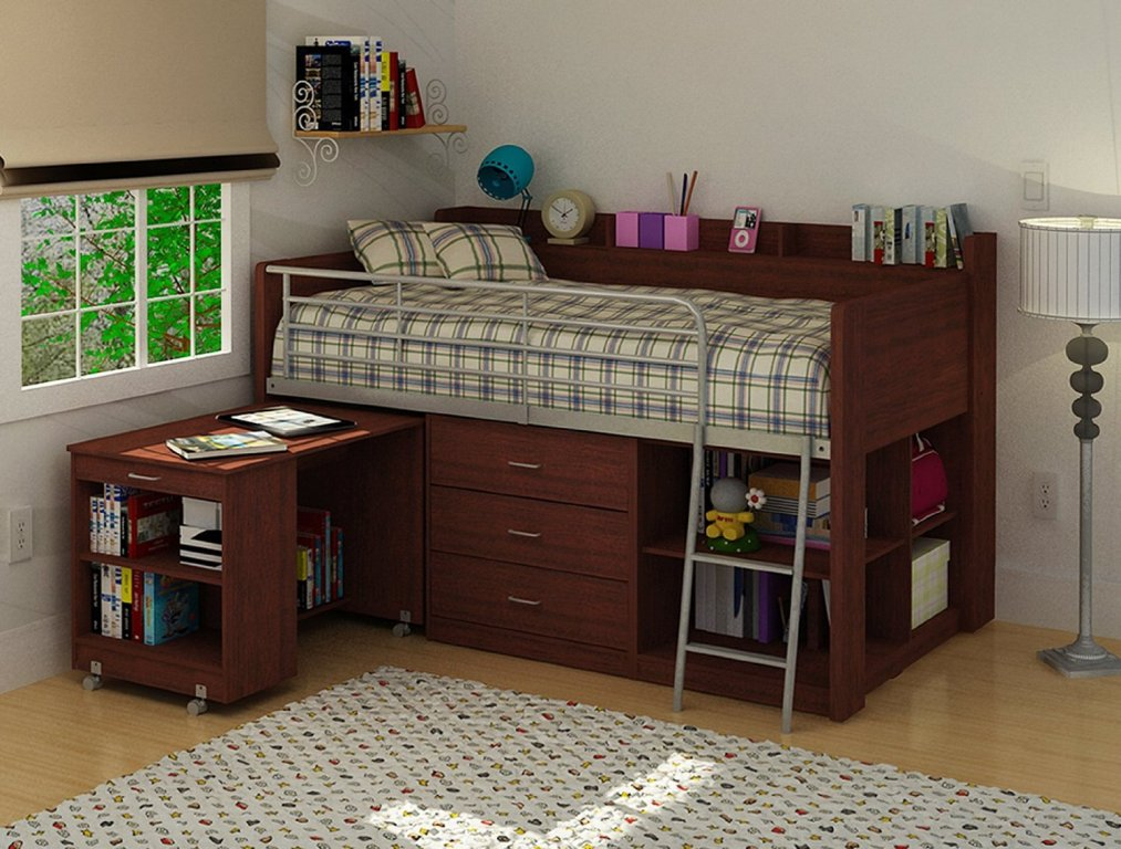 Image of: Bunk Beds With Dresser Built In And Study