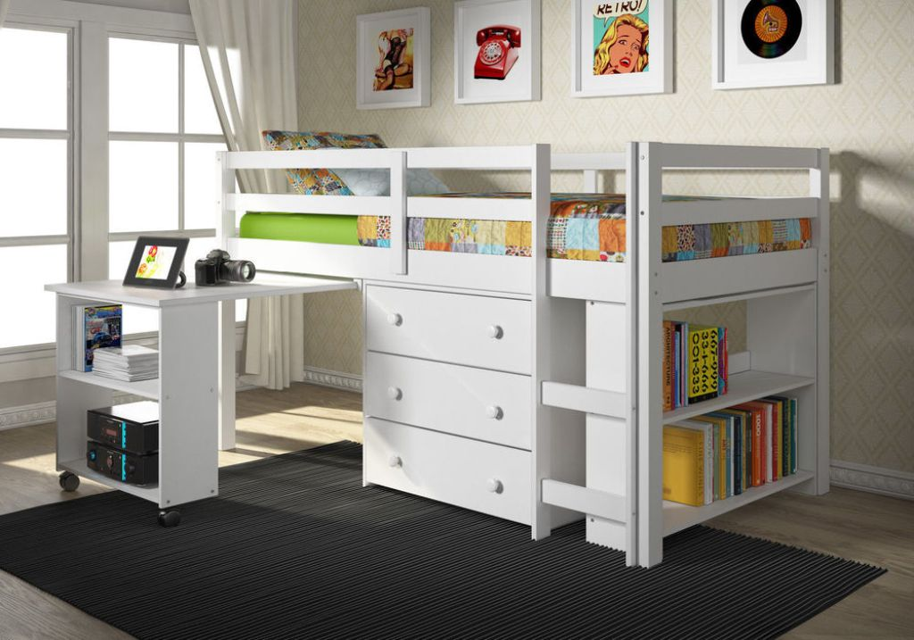 Image of: Bunk Beds With Dresser Built In Area