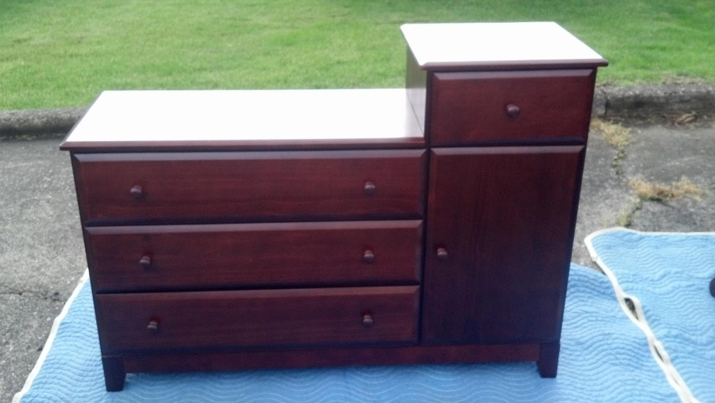 Image of: Changing Table Dresser Combo Furniture