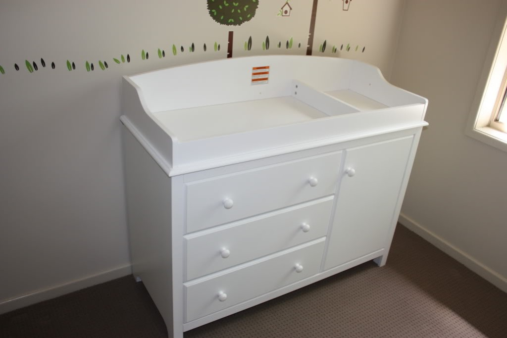 Image of: Changing Table White