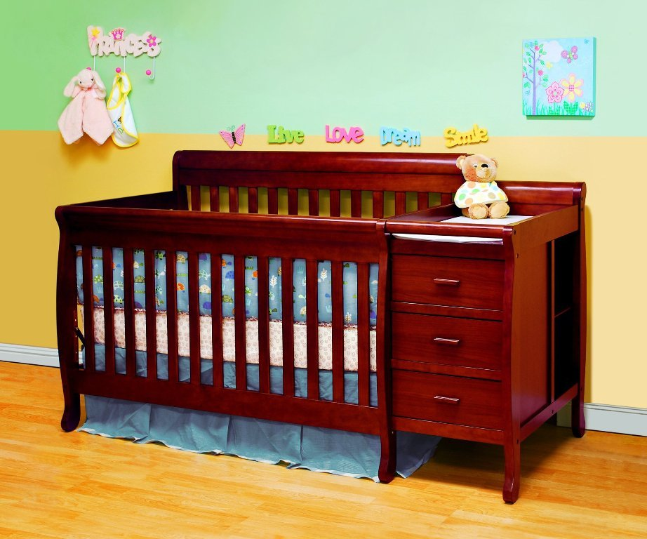 Picture of: Crib Changing Table Dresser Combo