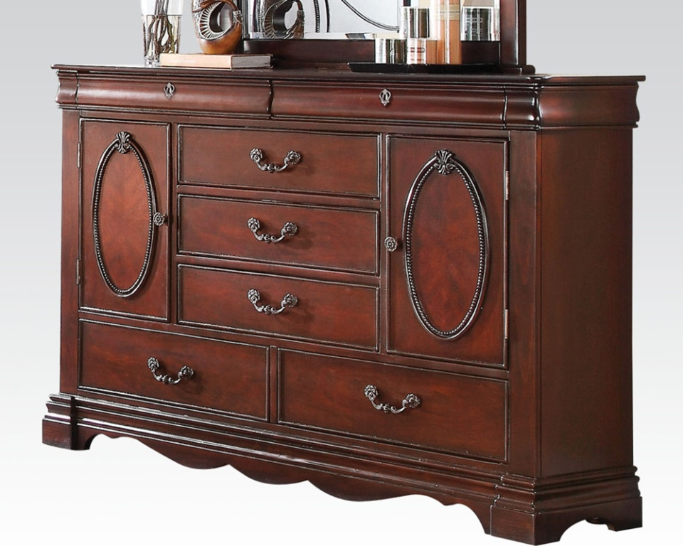 Image of: Dark Cherry Dresser Furniture