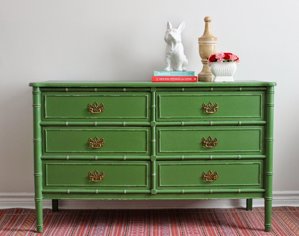 Image of: Faux Bamboo Dresser Designs