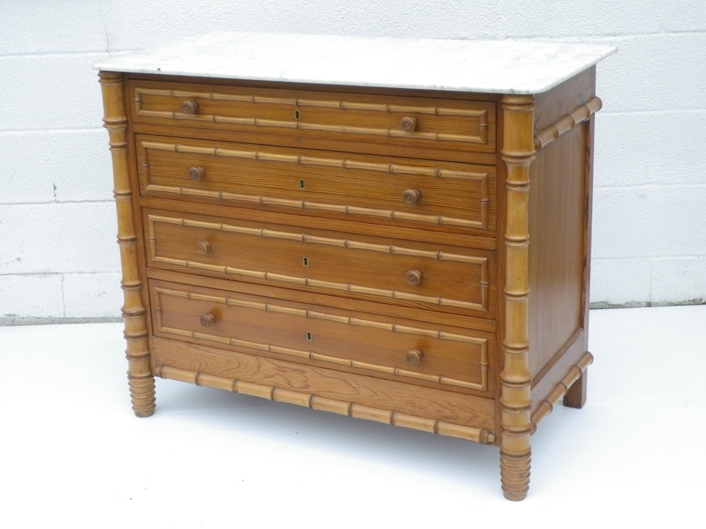 Image of: Faux Bamboo Dresser
