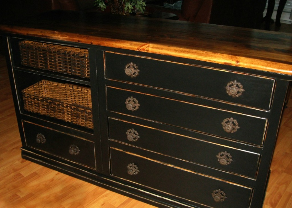 Image of: Finished Distressed Dressers