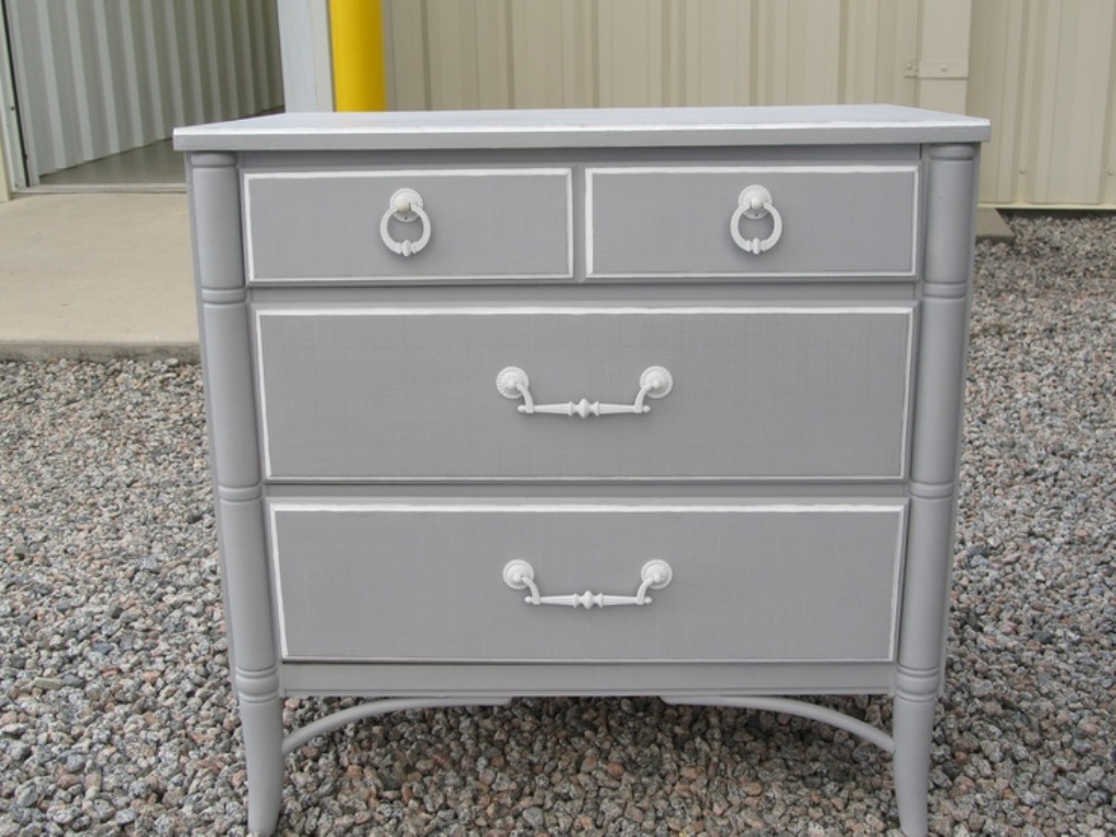 Grey Dresser And Nightstand