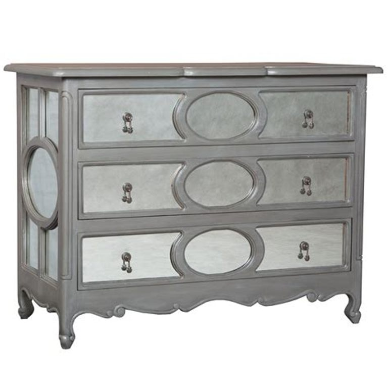 Image of: Grey Dresser With Mirror