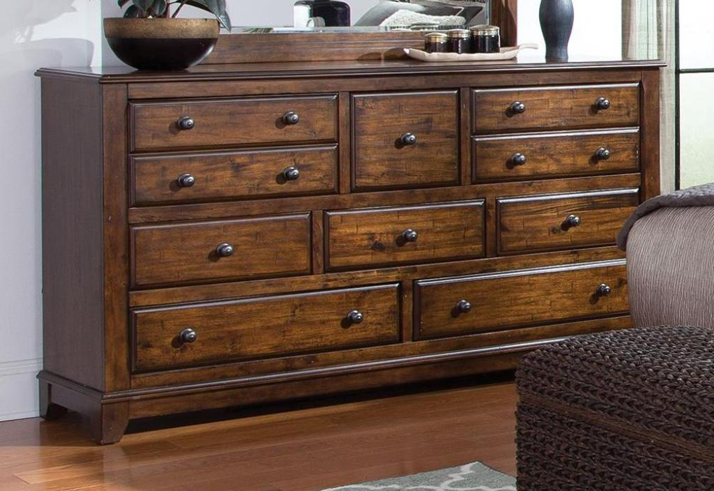 Picture of: Large Dark Brown Dressers