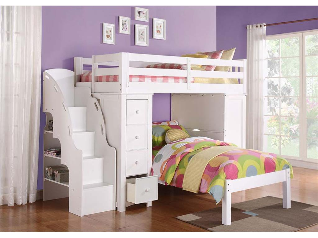 Image of: Loft Bed With Bookshelf