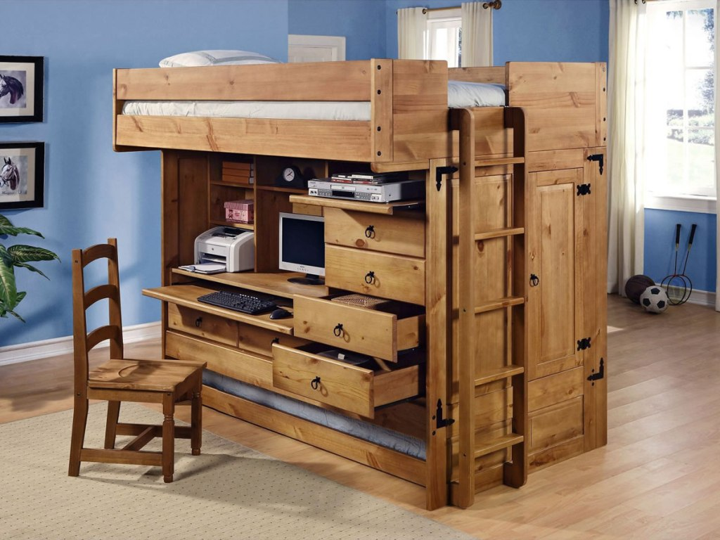 Loft Bed With Dresser Underneath