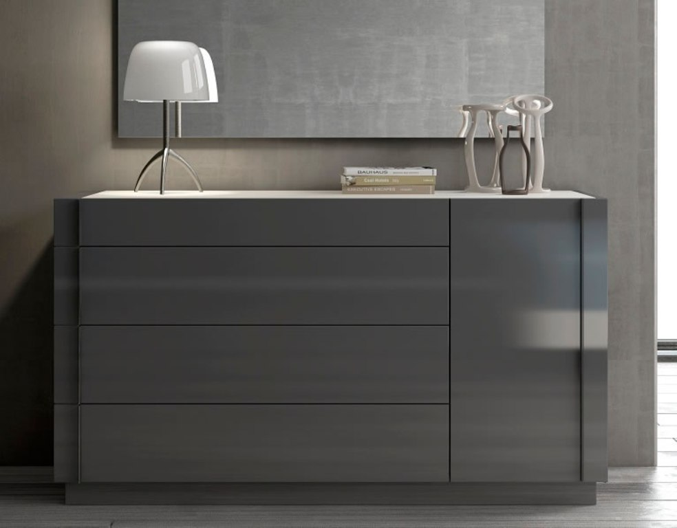 Image of: Modern Grey Dresser
