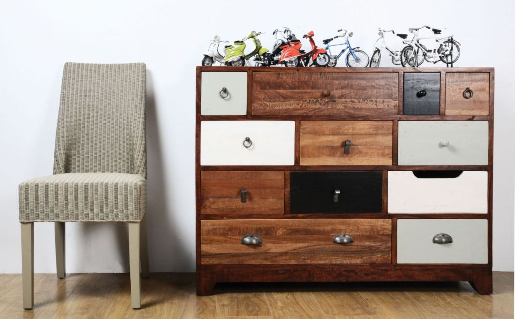 Picture of: Multi Colored Chest Of Drawers