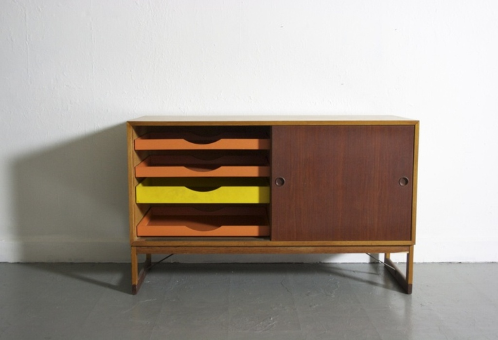 Small Dresser With Different Colored Drawers