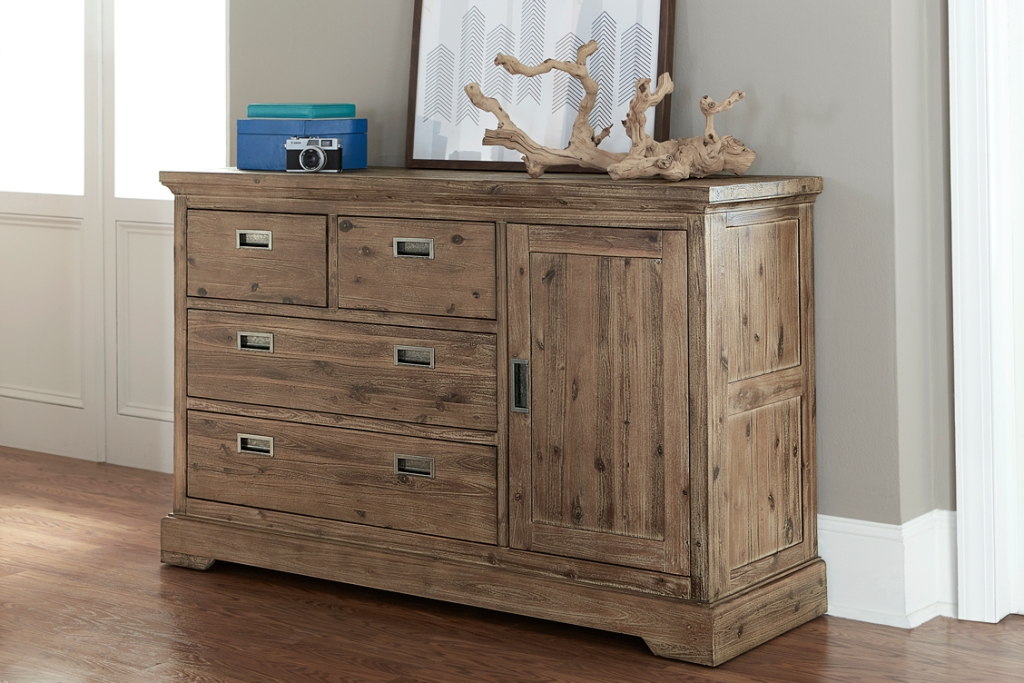 Image of: Solid Acacia Wood Dresser