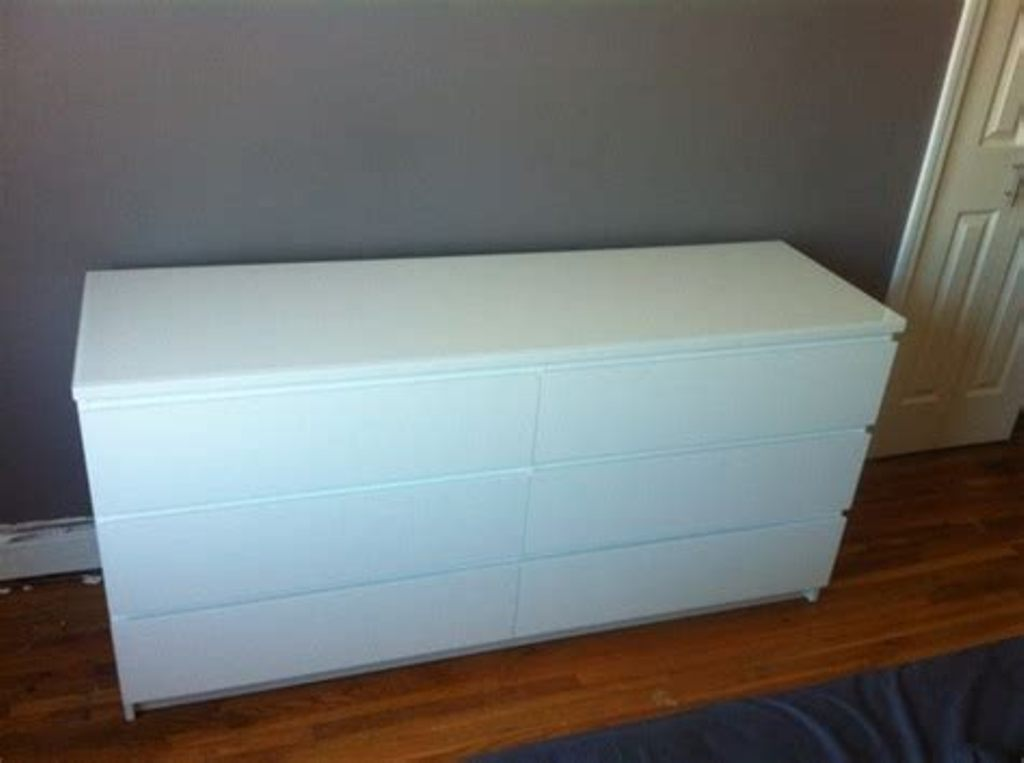 Image of: White 6 Drawer Dresser Ikea