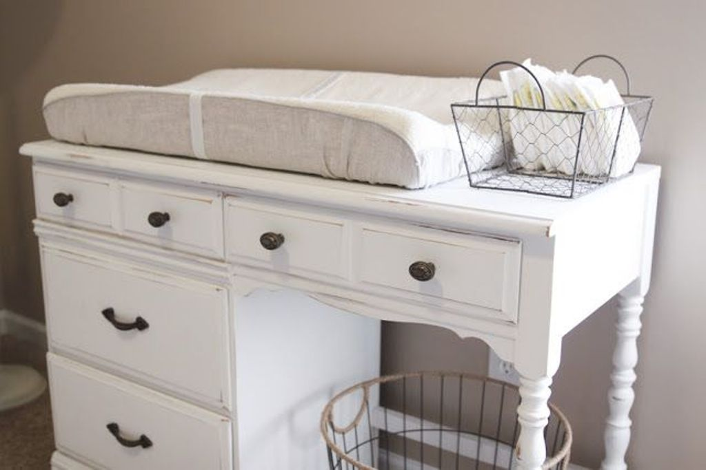 White Baby Dresser Changing Table