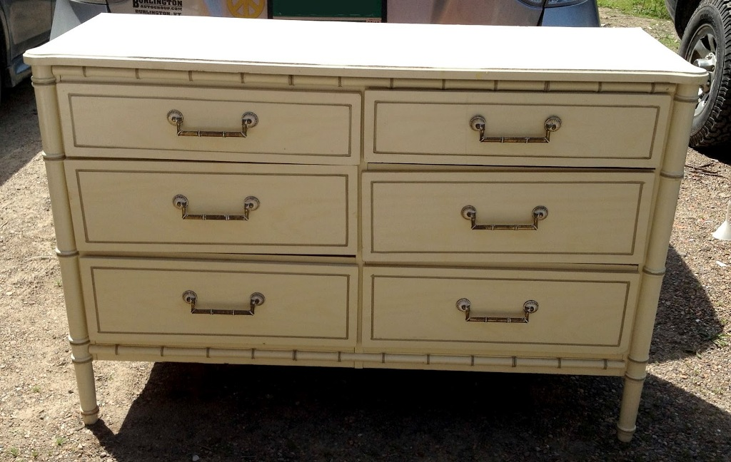 Image of: White Bamboo Dresser