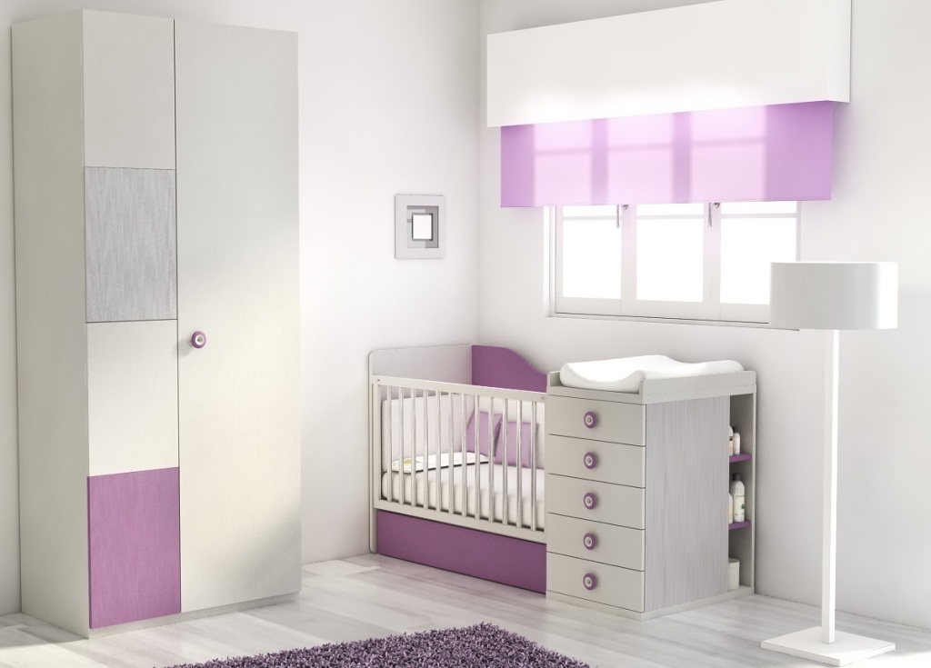 Picture of: Modern White Changing Table Dresser Combo