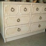 White Faux Bamboo Dresser
