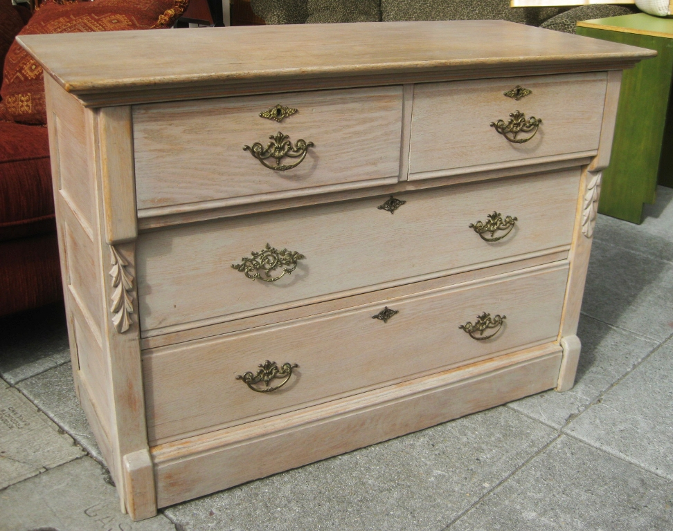 Image of: White Washed Dresser