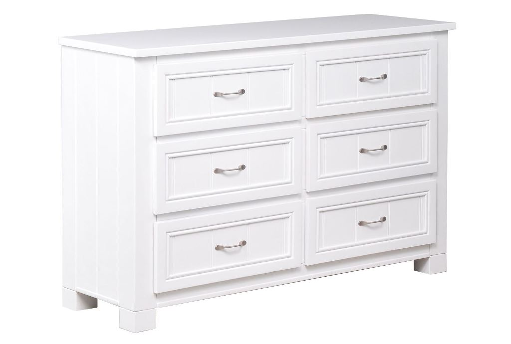 Image of: Wood Drawer Dresser White