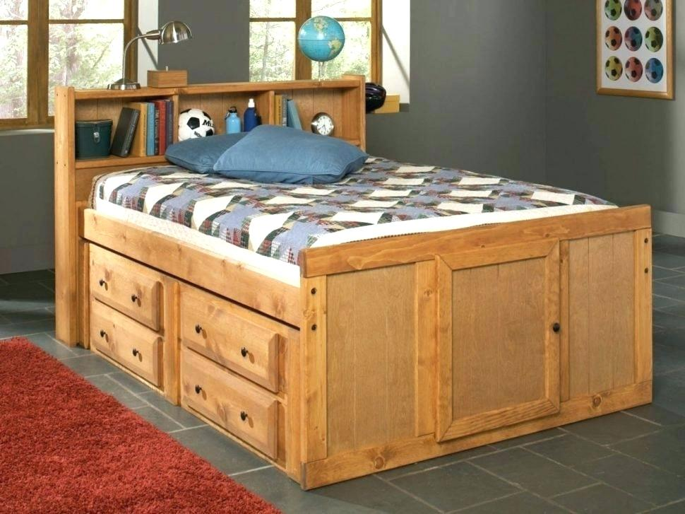 12 Drawer Full Size Captains Bed With Storage