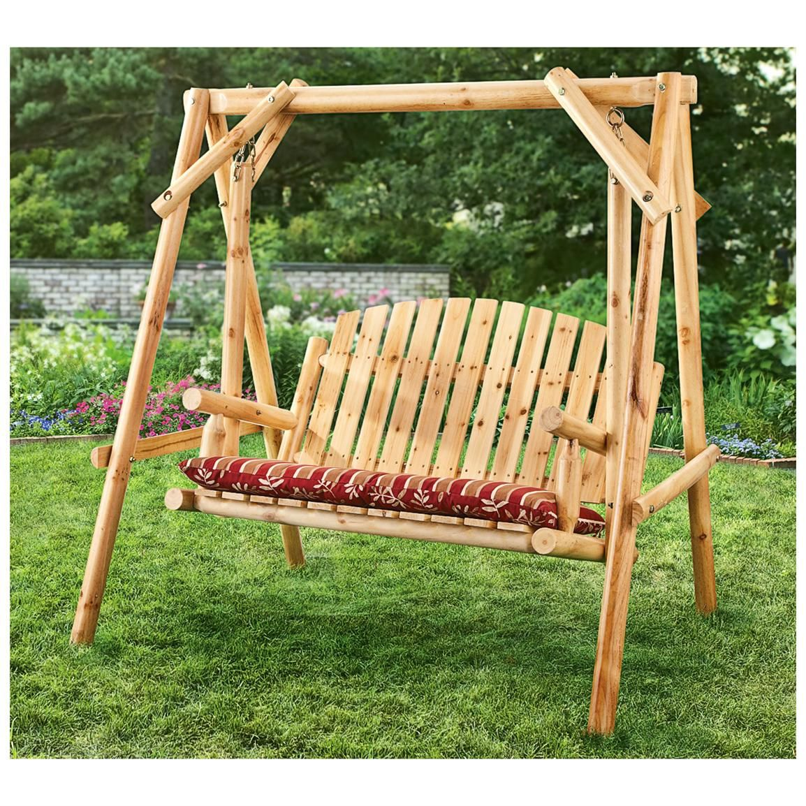 Picture of: 2 Person Wooden Swing Bench Ideas