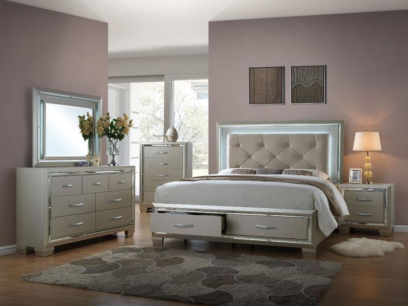 Amazing Platinum Bedroom Set