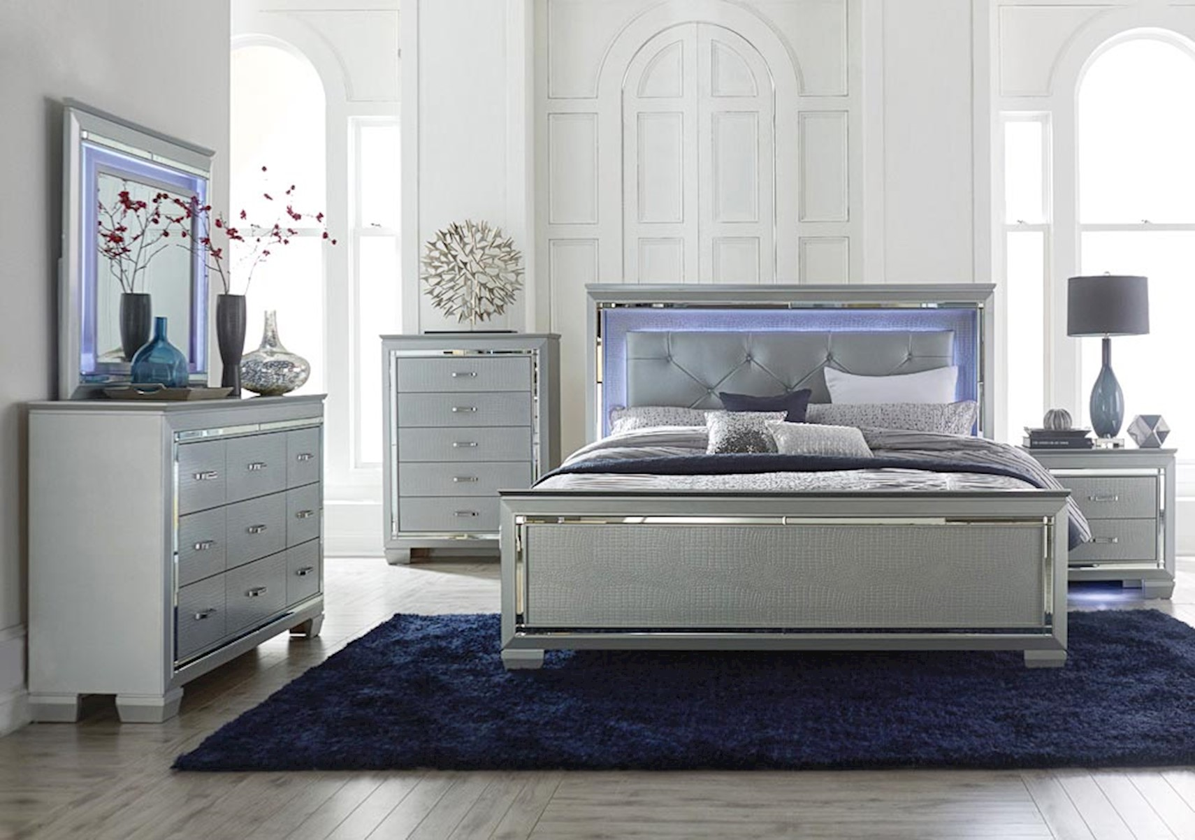 Picture of: Amazing Silver Bedroom Set Ideas