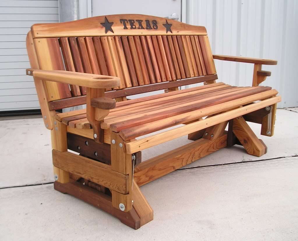 Picture of: Amazing Wooden Glider Bench