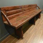 Antique Wooden Bench with Backs