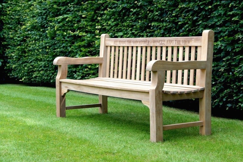Arms Wooden Porch Bench