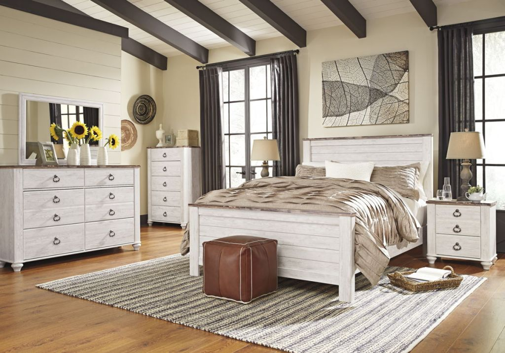 Image of: Ashley Willowton Bedroom Set