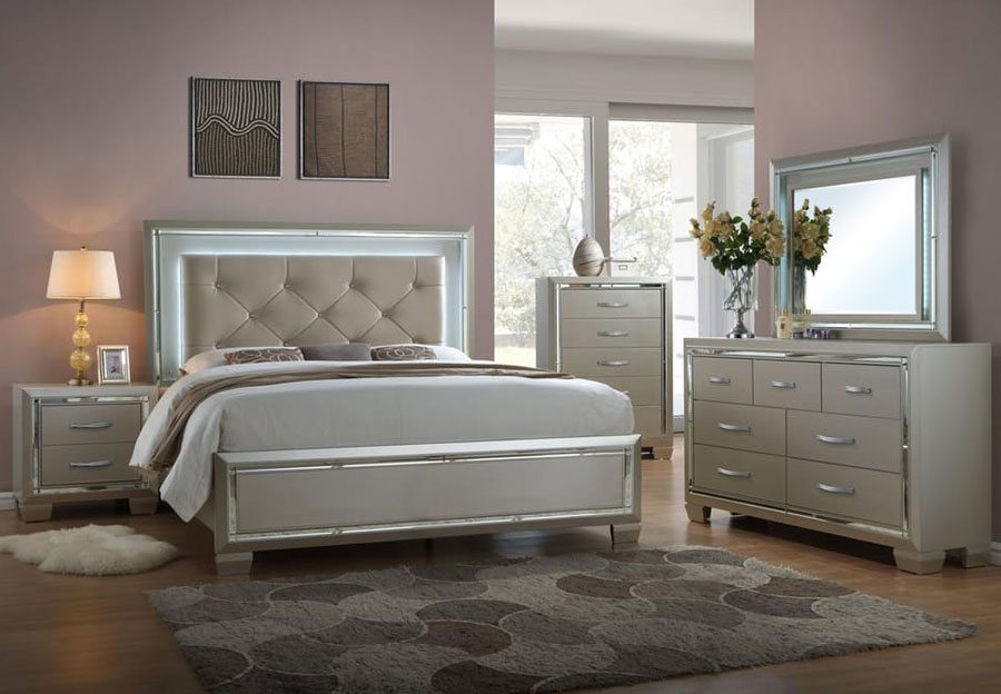 Picture of: Awesome Platinum Bedroom Set
