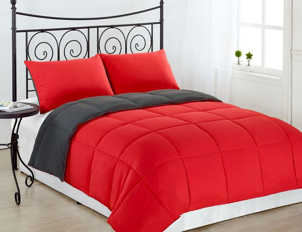 Awesome Red And Gray Comforter Sets