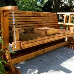 Awesome Wooden Glider Bench