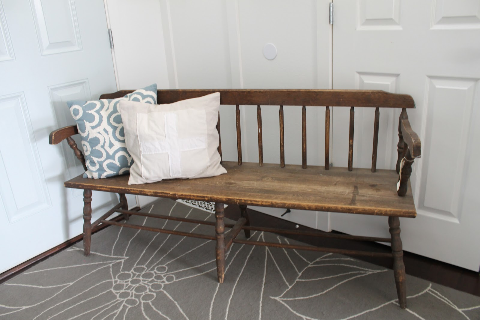 Back Vintage Wooden Bench