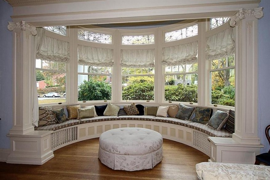 Image of: Bay Window Bench Cushions
