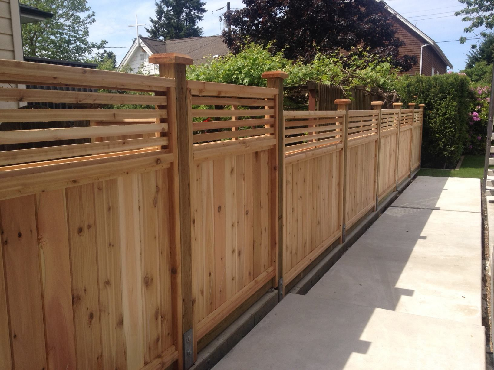 Picture of: Beautiful Installing Fence Panels