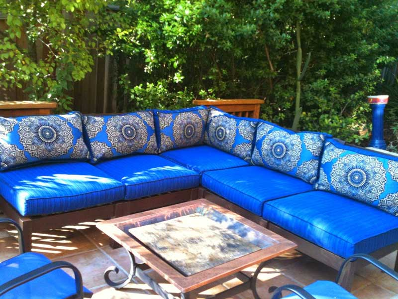 Image of: Bench Cushions Ikea in Blue