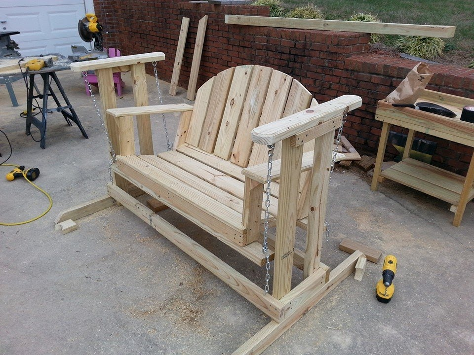 Picture of: Best Wooden Bench Swing Ideas